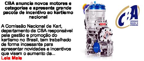 CBA Anuncia novos motores