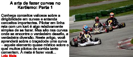 A arte de curvas no kartismo Parte 1