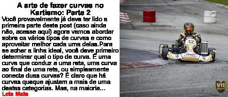 A arte de curvas no kartismo Parte 2