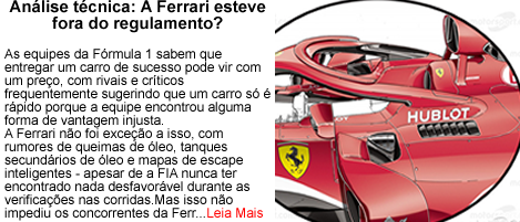 Ferrari fora do regulamento