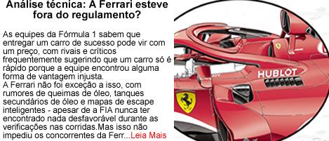 Ferrari fora do regulamento