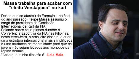 Massa trabalha para acabar com efeito Verstappen no Kart