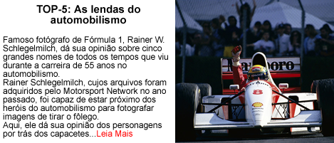 Top 5 as lendas do automobilismo