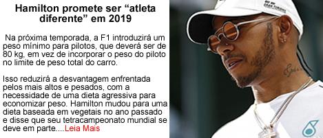 Hamilton promete ser atleta diferente em 2019