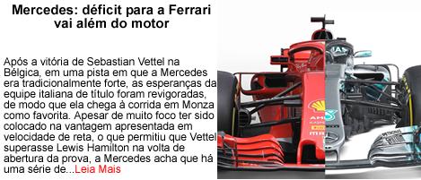 Mercedes Defict para Ferrari vai alem de motor