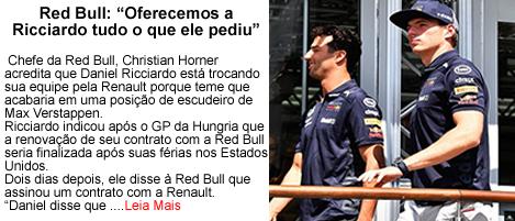RedBull Oferecemos tudo que Ricciardo pediu