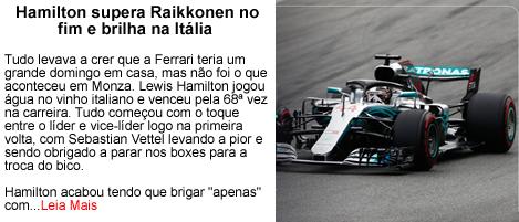 Hamilton supera raikkonen no GP da Italia