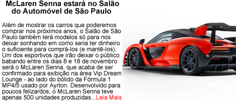 McLaren Senna no salao do automovel