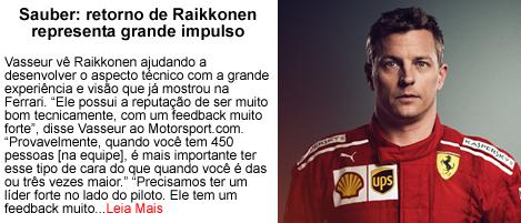 Sauber retorno de raikkonen representa impulso