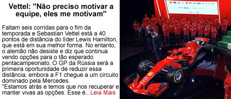 Vettel nao preciso motivar a equipe eles me motivam