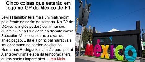 Cinco coisas estarao em jogo no GP do Mexico.fw