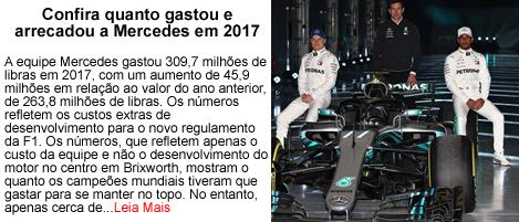 Confira quanto a Mercedes arrecadou em 2017