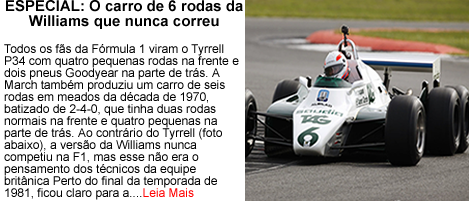 O carro de 6 rodas da Williams
