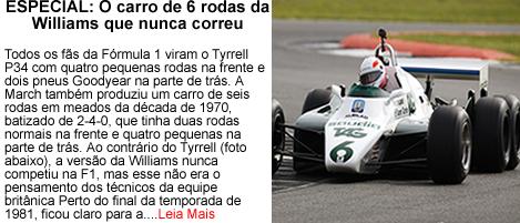 O carro de 6 rodas da Williams