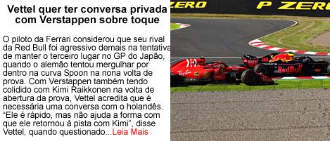 Vettel quer ter conversa privada com Verstappen