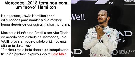 Mercedes 2018 terminou com um novo Hamilton.fw