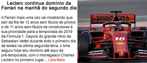 Leclerc continua dominio da Ferrari no segundo dia.fw